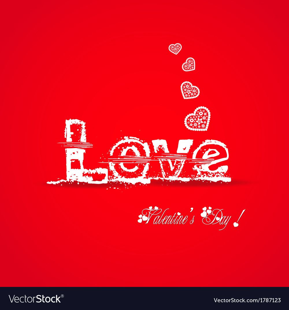 Love valentine typography vector | Price: 1 Credit (USD $1)