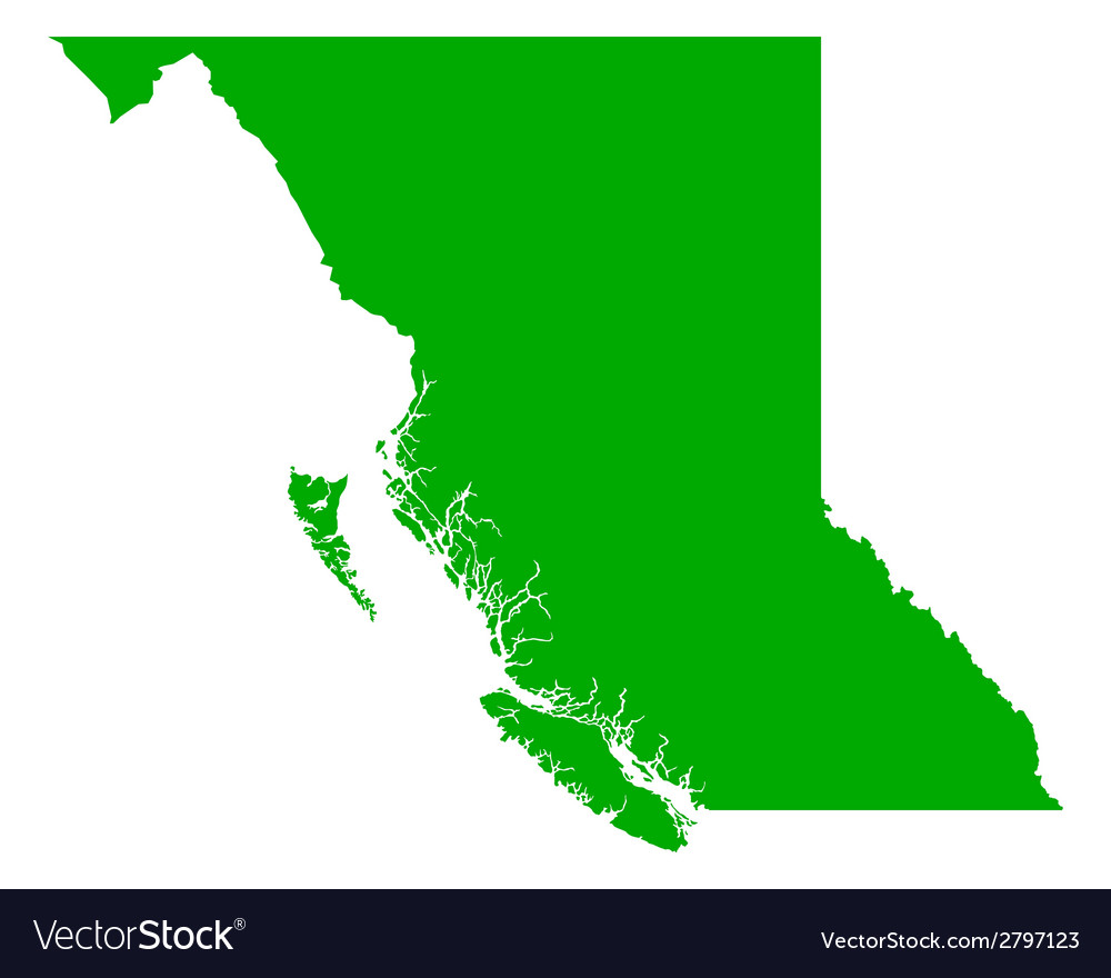 Map of british columbia vector | Price: 1 Credit (USD $1)