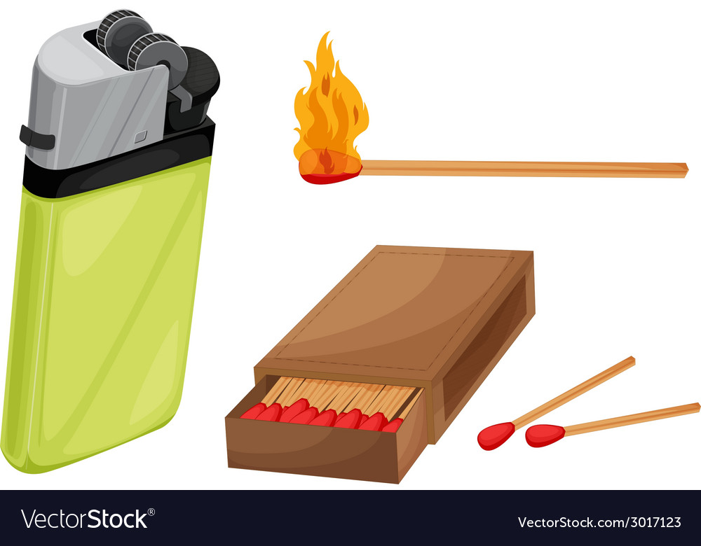 Matches and lighter vector | Price: 1 Credit (USD $1)