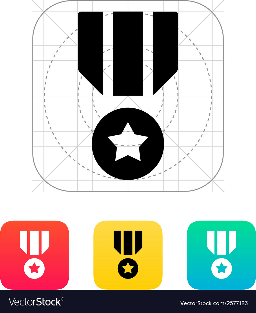 Military medal icon vector | Price: 1 Credit (USD $1)
