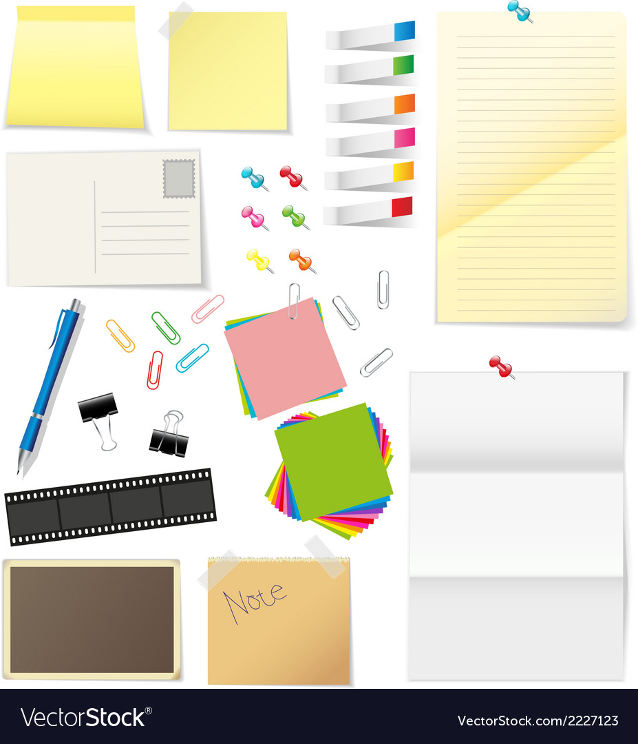 Paper and office supplies vector | Price: 1 Credit (USD $1)