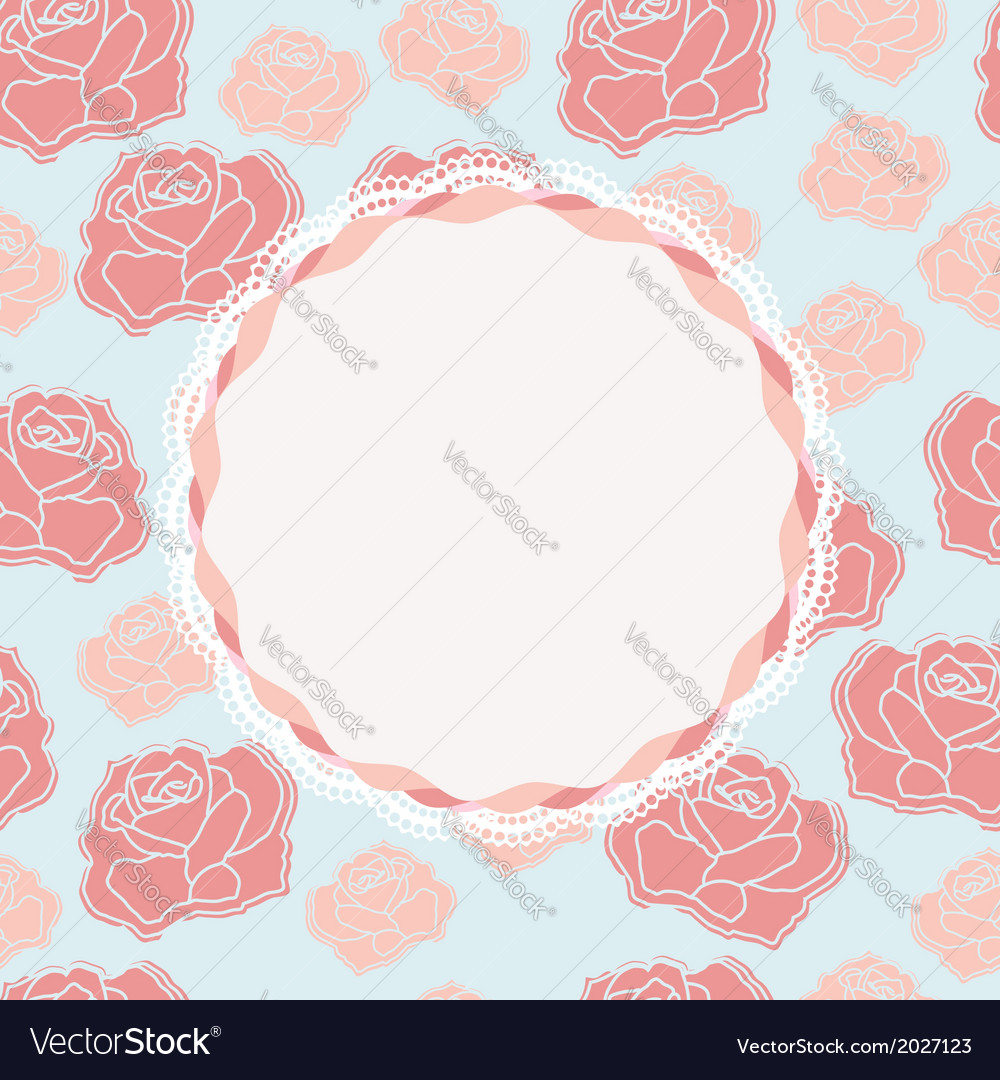 Pretty rose design with vacant central cartouche vector | Price: 1 Credit (USD $1)