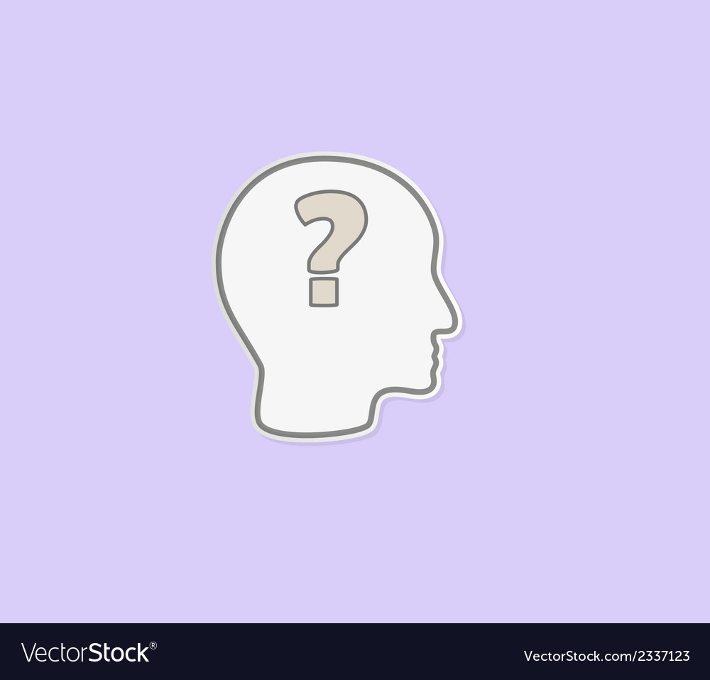 Question mark in head vector | Price: 1 Credit (USD $1)