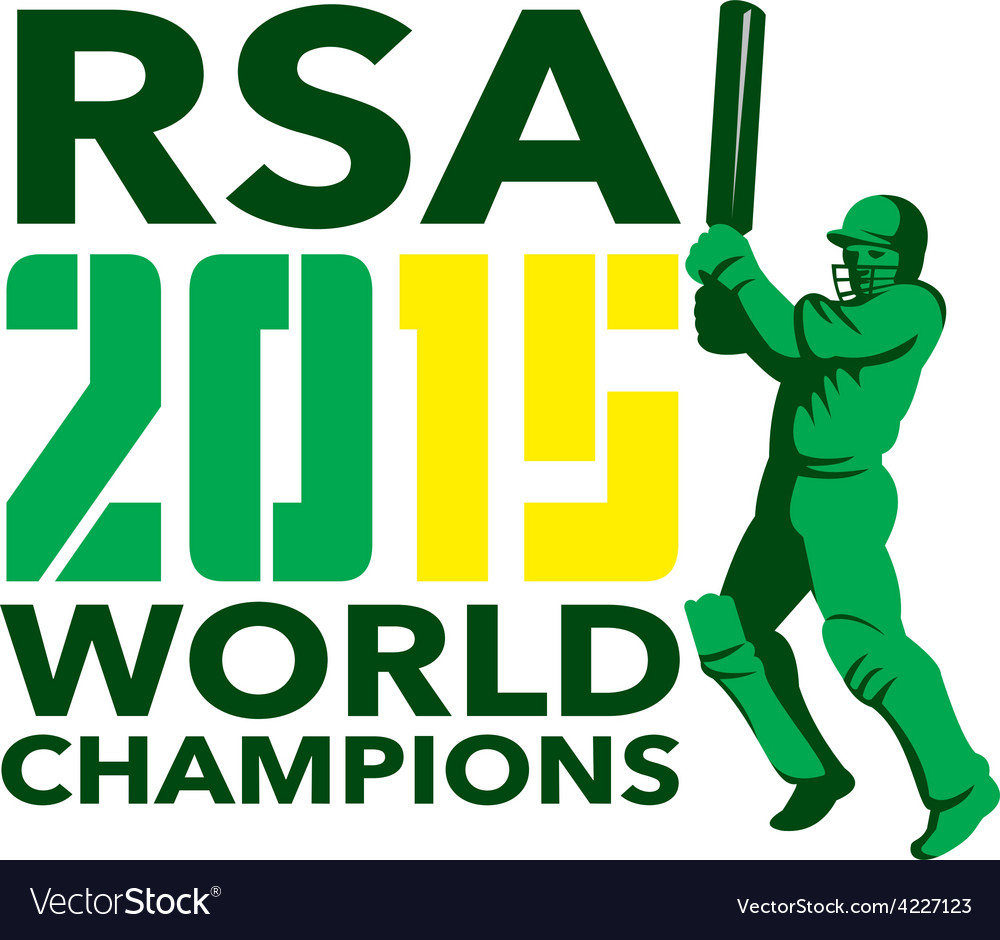South africa sa cricket 2015 world champions vector | Price: 1 Credit (USD $1)