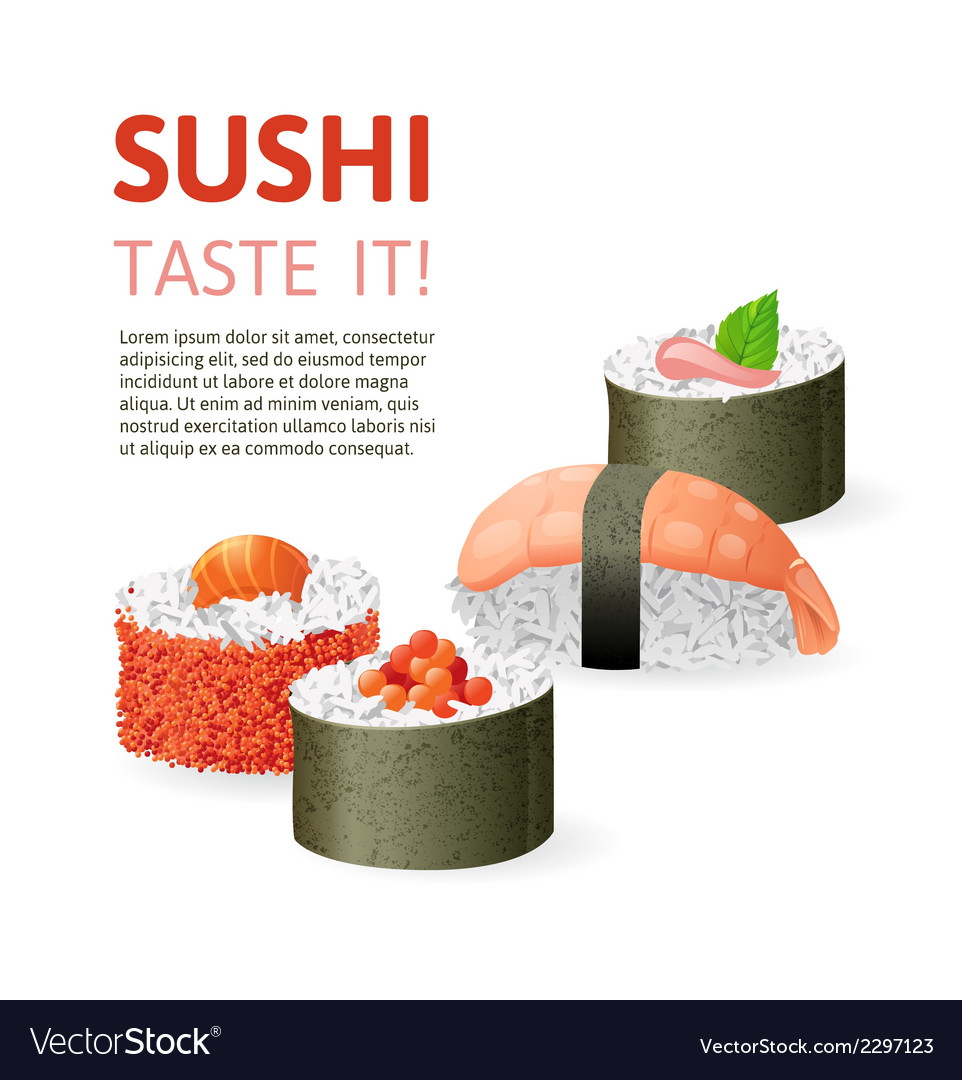 Sushi background vector | Price: 1 Credit (USD $1)