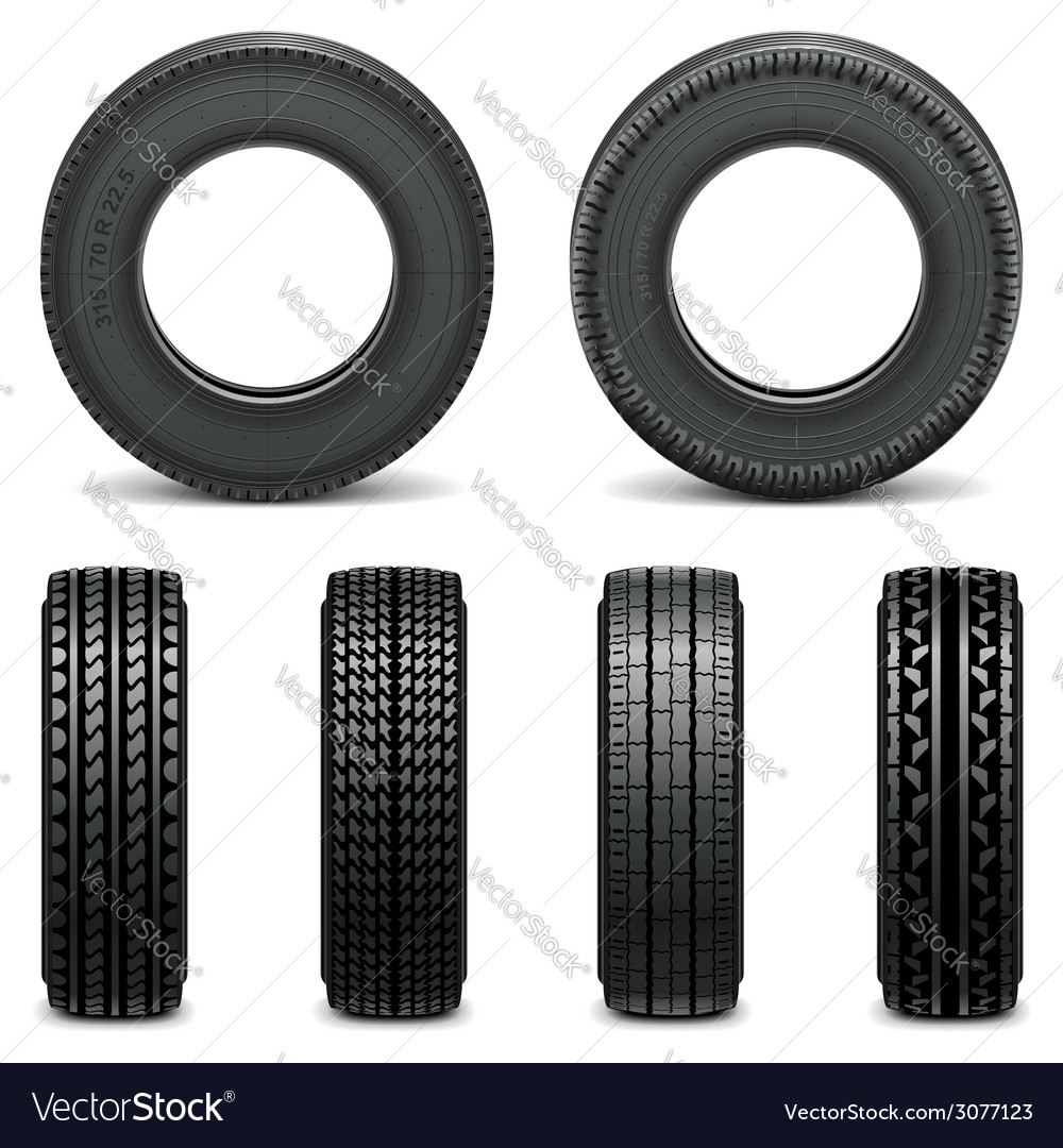 Tyre icons vector | Price: 1 Credit (USD $1)