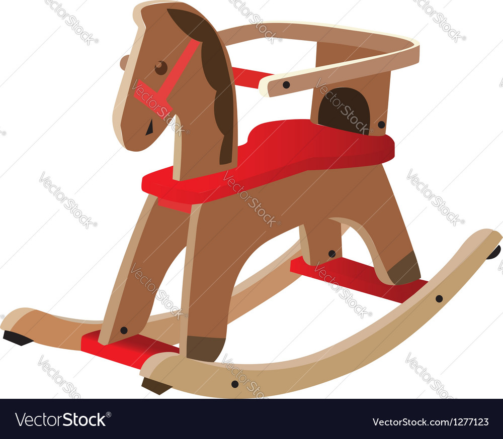 Wooden horse vector | Price: 1 Credit (USD $1)