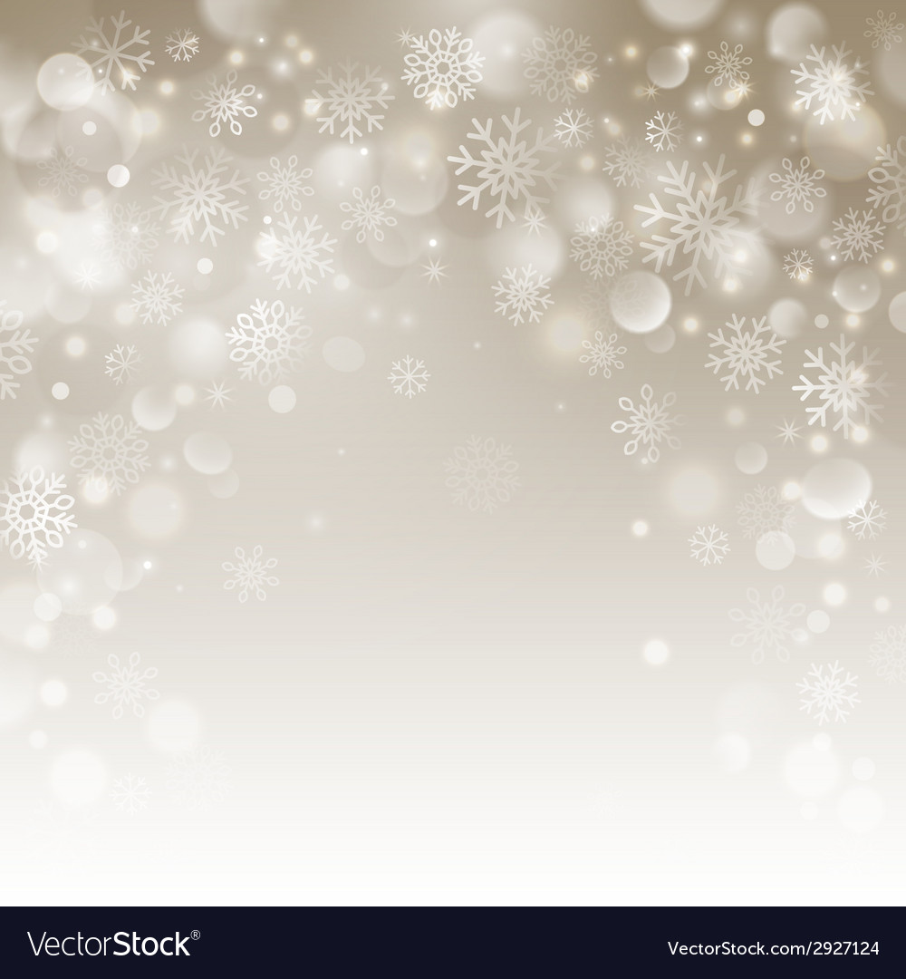 Christmas beige background with snowflakes vector | Price: 1 Credit (USD $1)