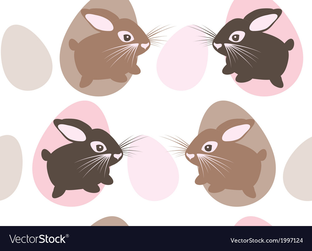 Easter rabbit with eggs seamless texture vector   Price: 1 Credit (USD $1)