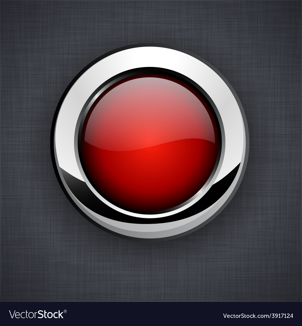 Glossy 3d red button vector | Price: 1 Credit (USD $1)