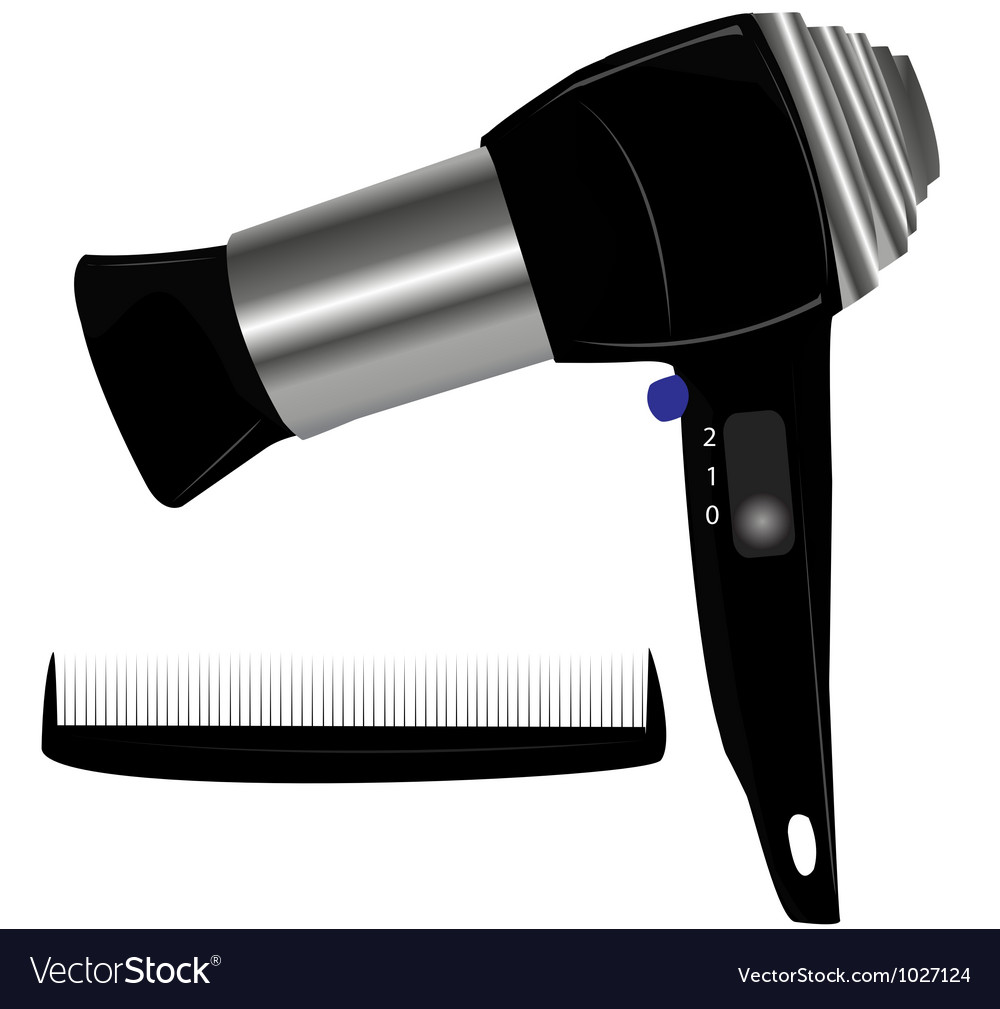 Hair blow dryer vector | Price: 1 Credit (USD $1)