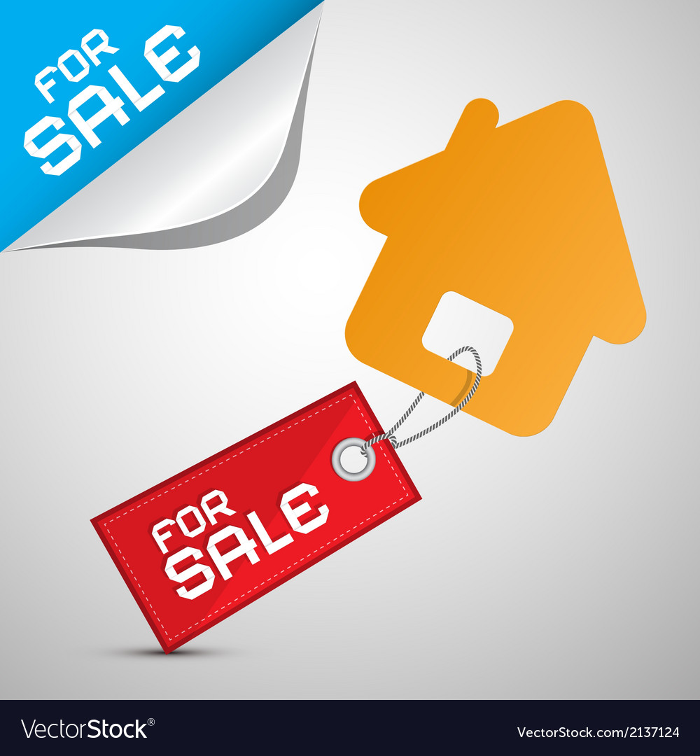House for sale paper icon vector | Price: 1 Credit (USD $1)