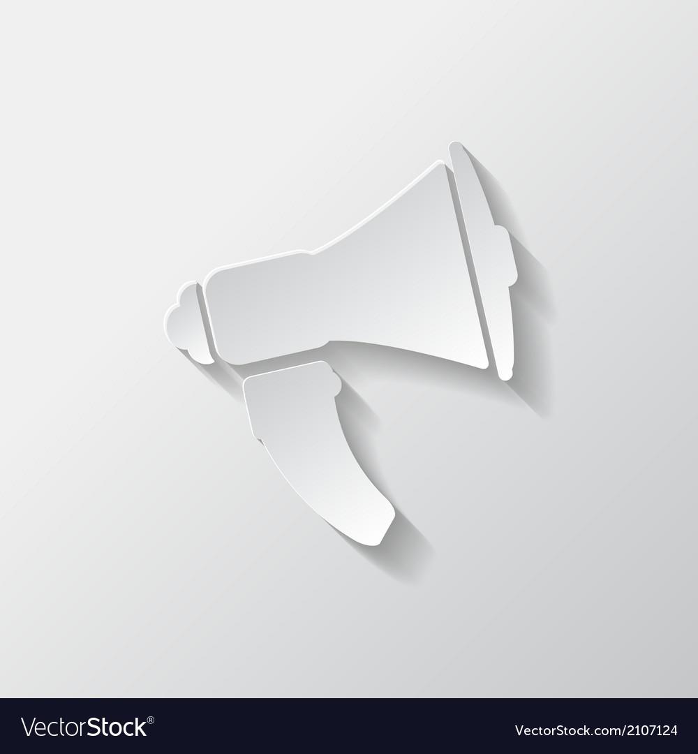 Loudspeaker icon microphone symbol vector | Price: 1 Credit (USD $1)