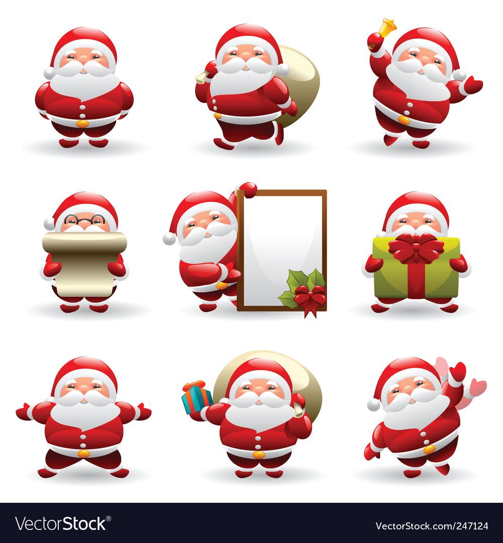 Santa claus set vector   Price: 3 Credit (USD $3)