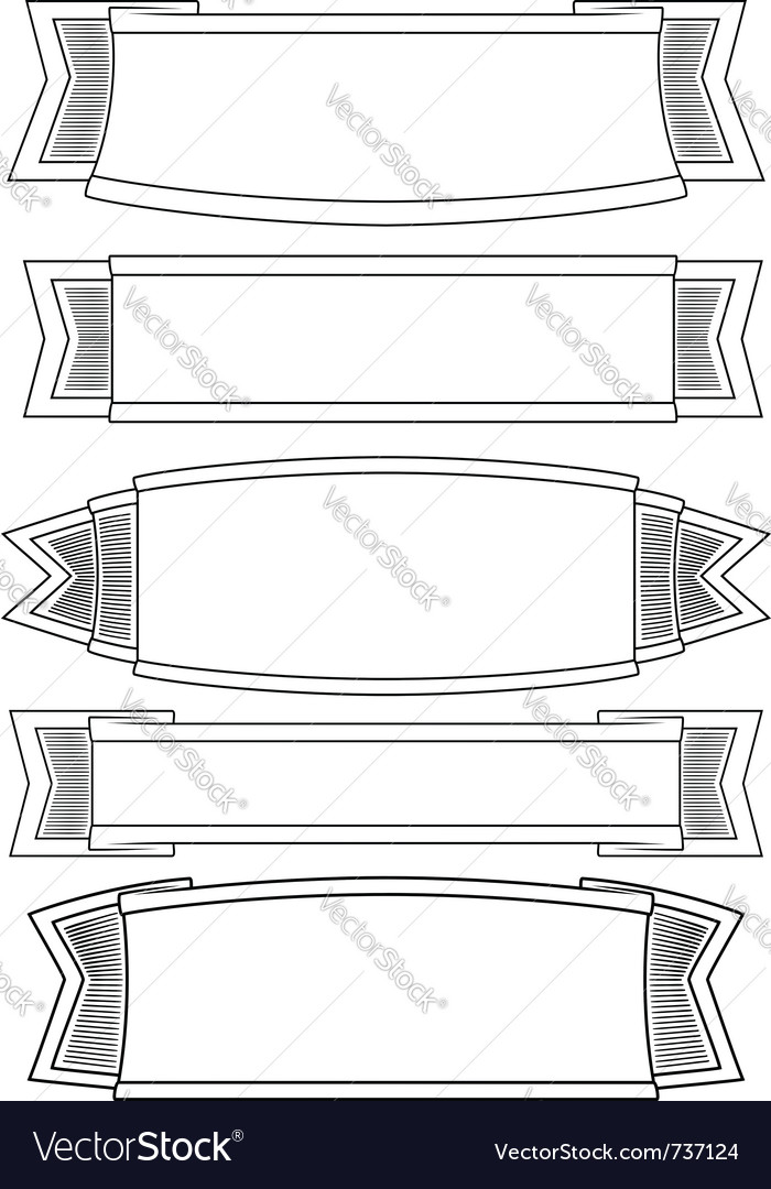 Set of 5 banners vector | Price: 1 Credit (USD $1)