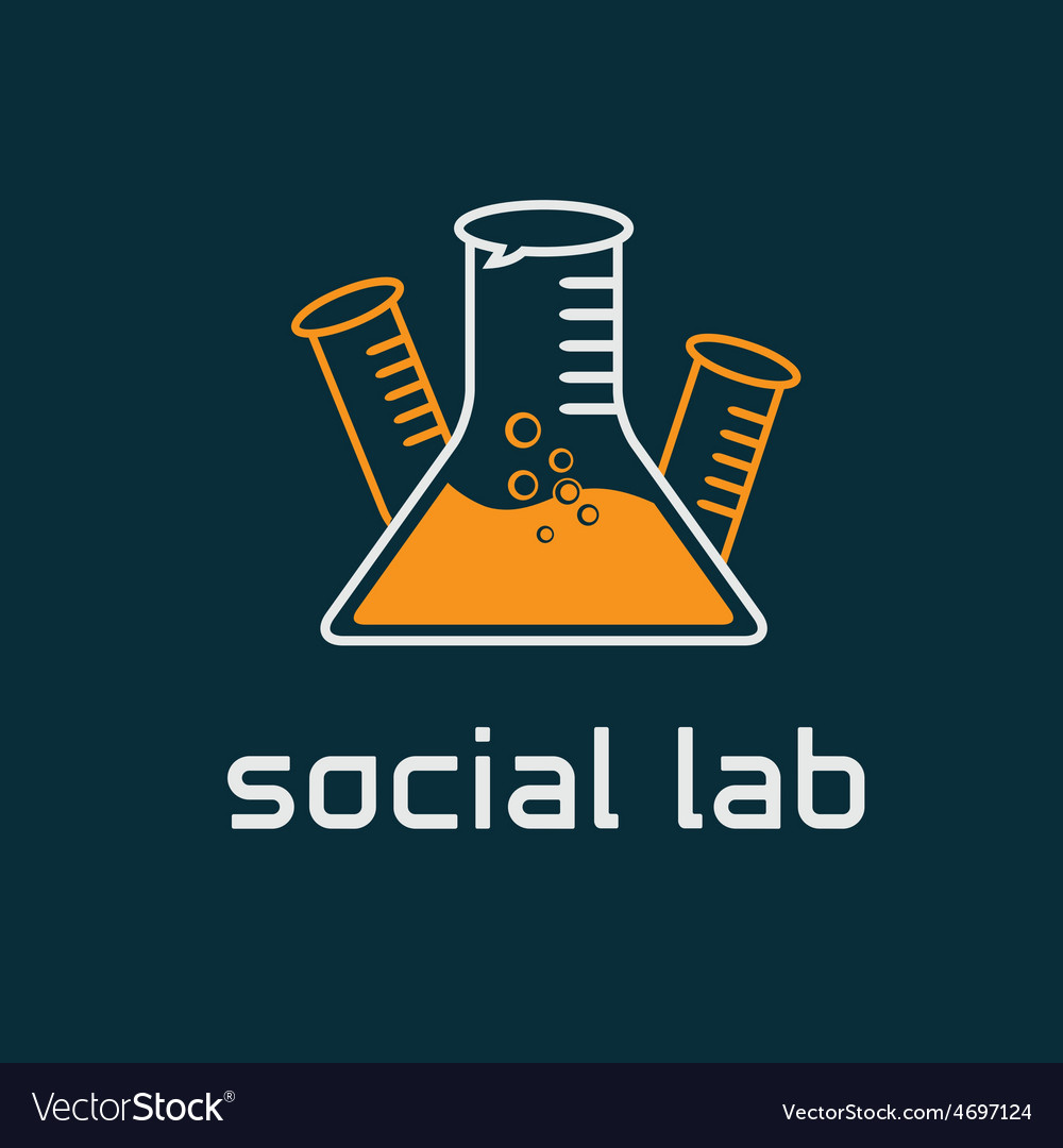 Social lab concept design template vector | Price: 1 Credit (USD $1)