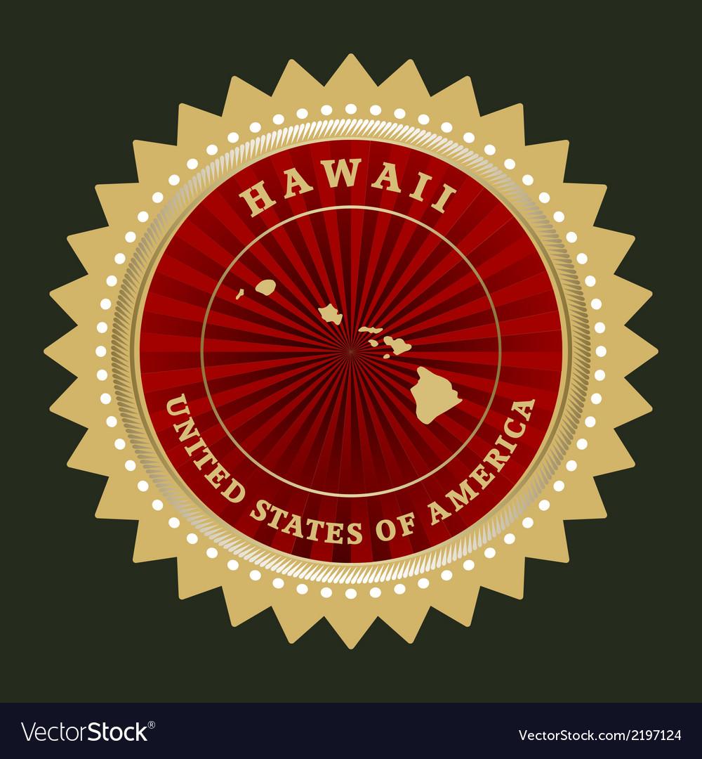 Star label hawaii vector | Price: 1 Credit (USD $1)