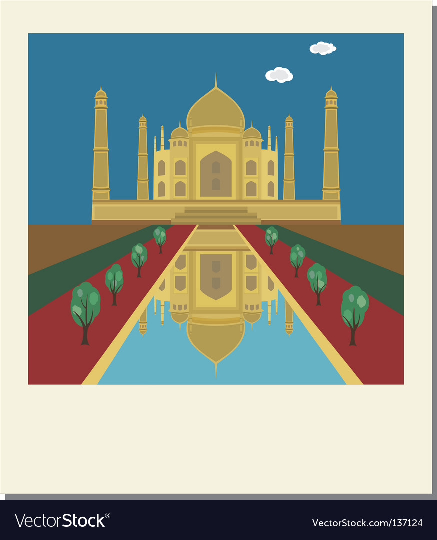 Taj mahal photo vector | Price: 1 Credit (USD $1)