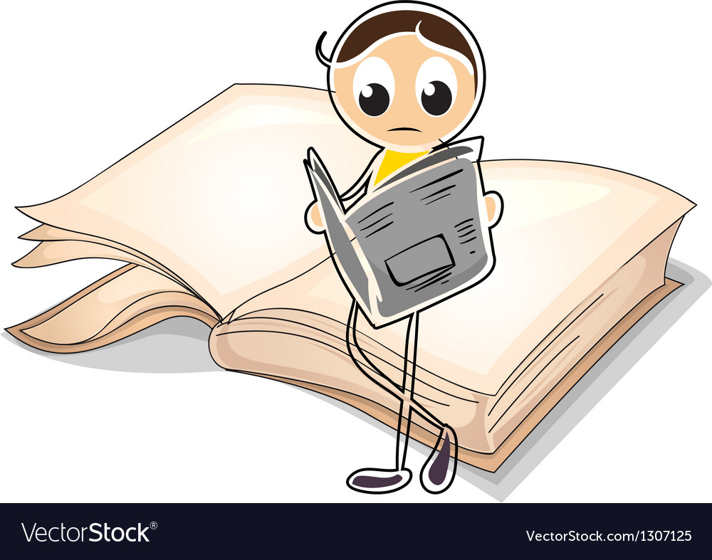A girl reading in front of a big book vector   Price: 1 Credit (USD $1)