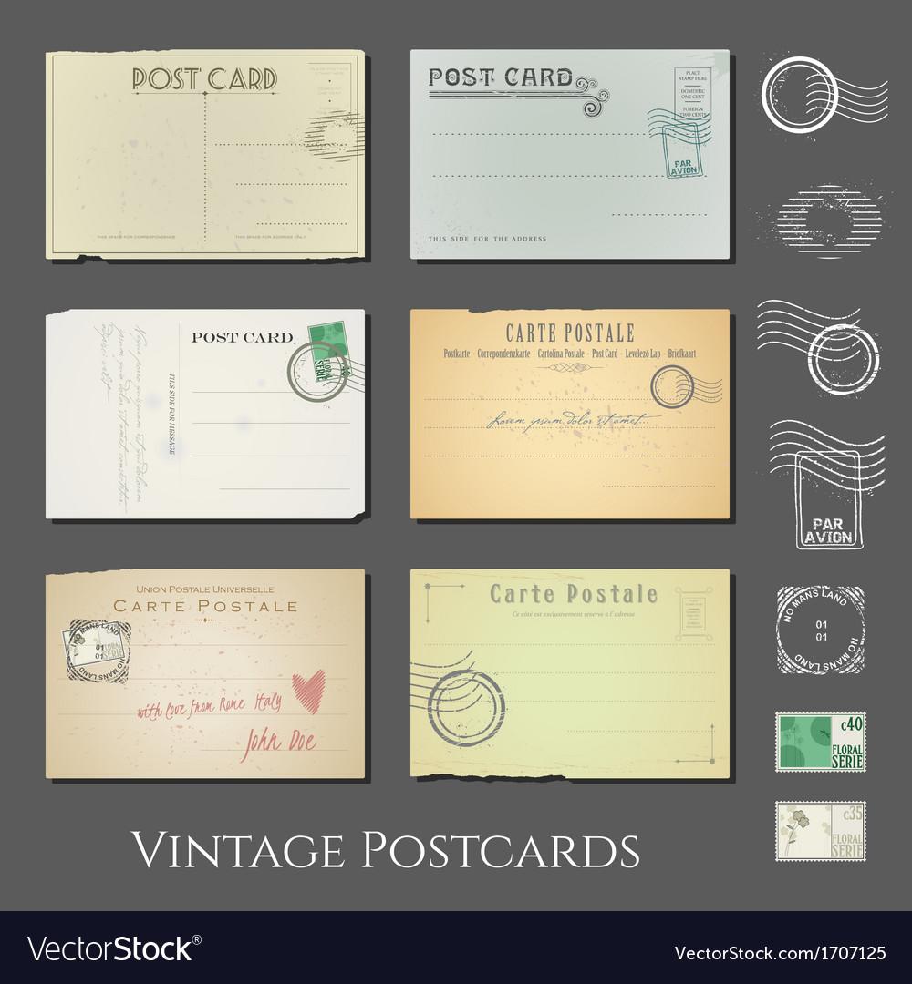 Antique postcards collection vol 2 vector | Price: 1 Credit (USD $1)