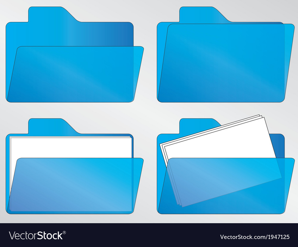 Blue folder icons vector | Price: 1 Credit (USD $1)