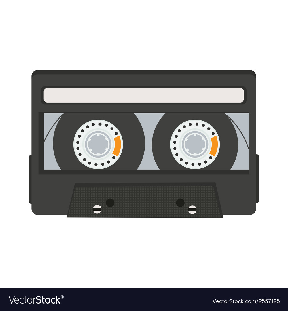 Cassette tape isolated on white background vector | Price: 1 Credit (USD $1)