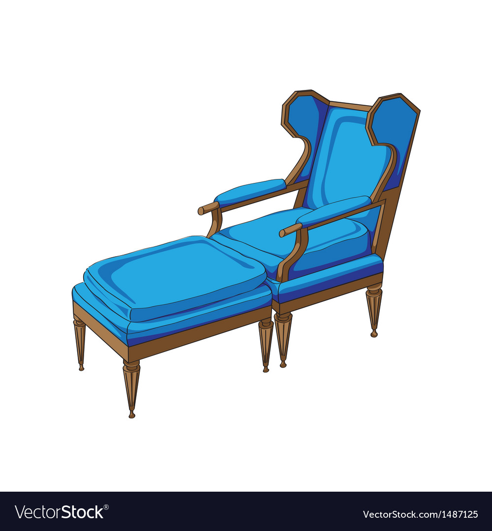 Classic lounge chair vector | Price: 1 Credit (USD $1)