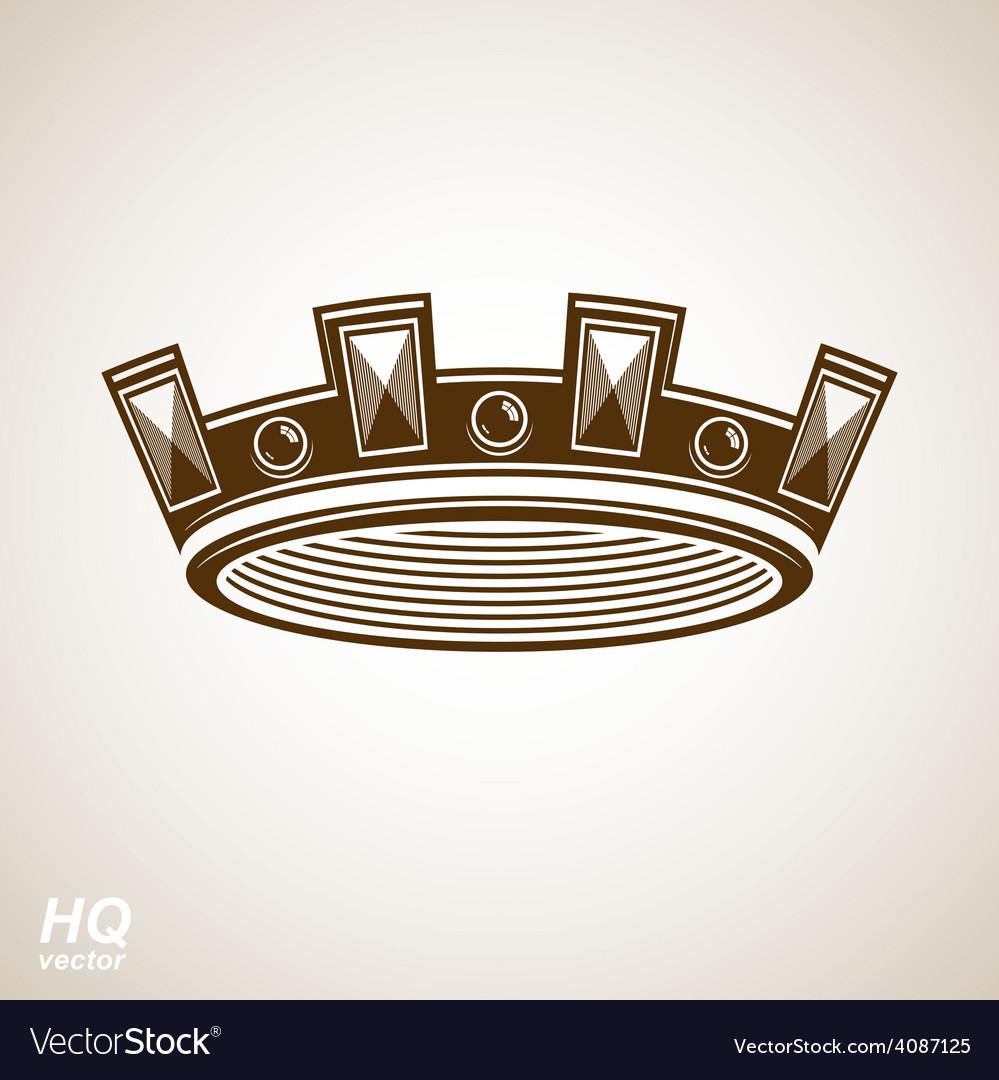 Crown symbol vector | Price: 1 Credit (USD $1)