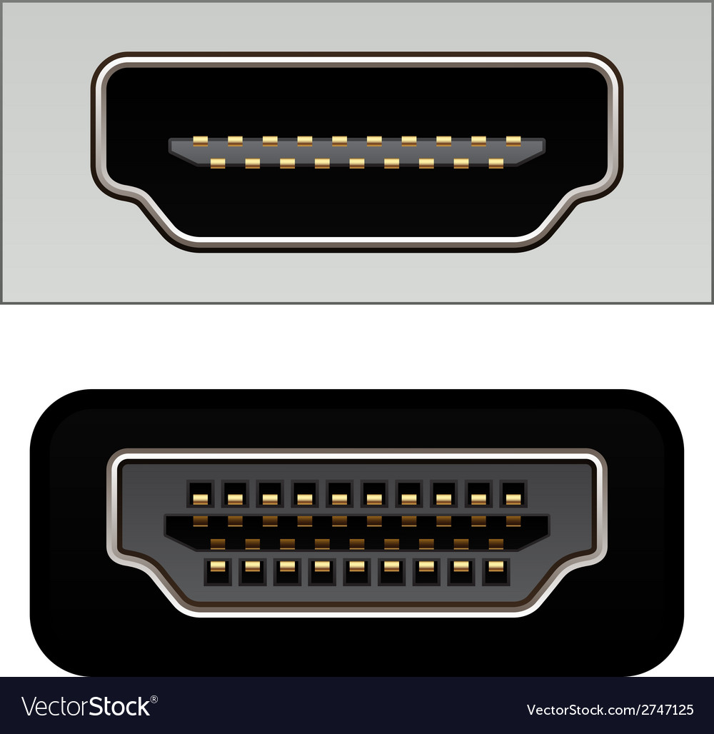 Hdmi digital video connectors vector | Price: 1 Credit (USD $1)