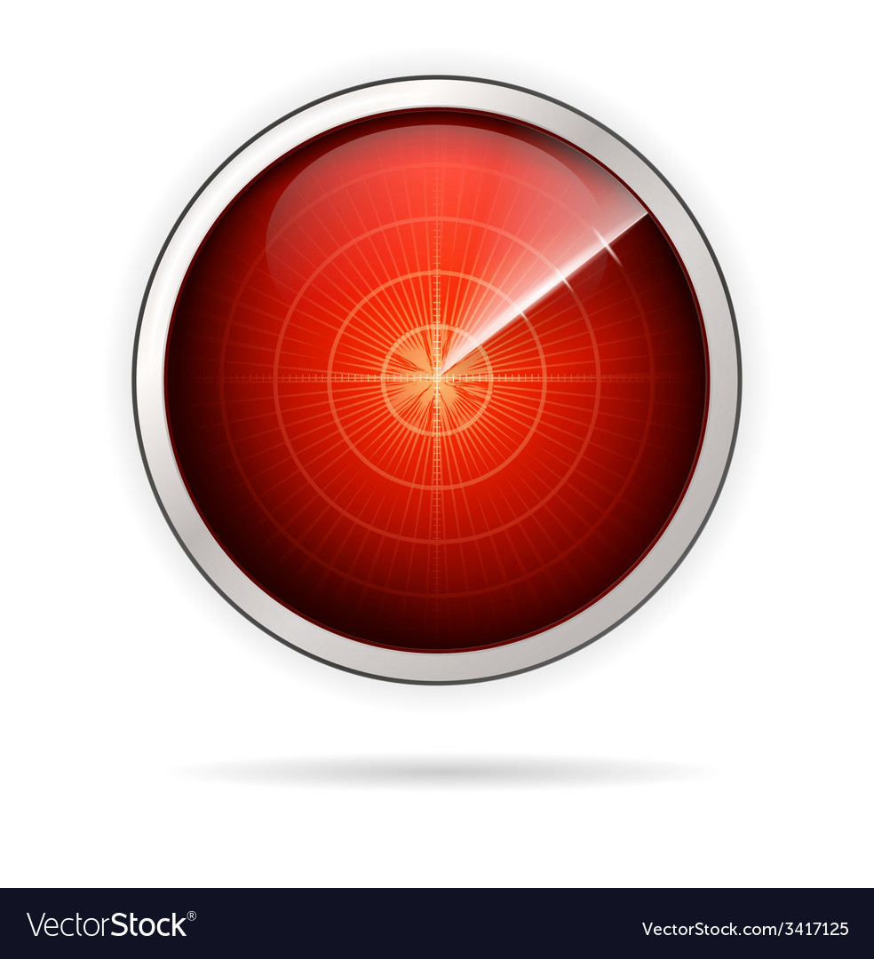 Icon for red radar vector | Price: 1 Credit (USD $1)