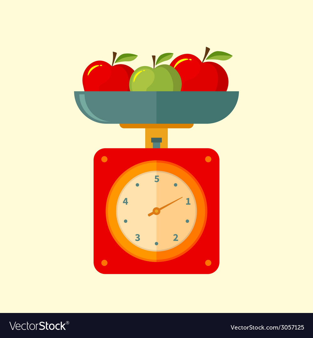 Kitchen scales vector | Price: 1 Credit (USD $1)
