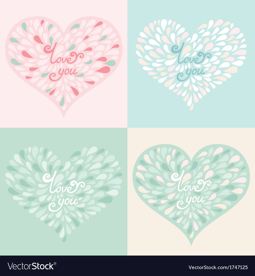 Love cards vector | Price: 1 Credit (USD $1)