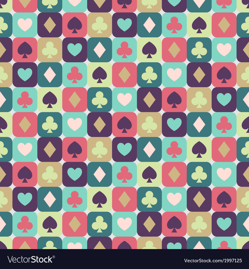 Seamless background of card suits vector | Price: 1 Credit (USD $1)