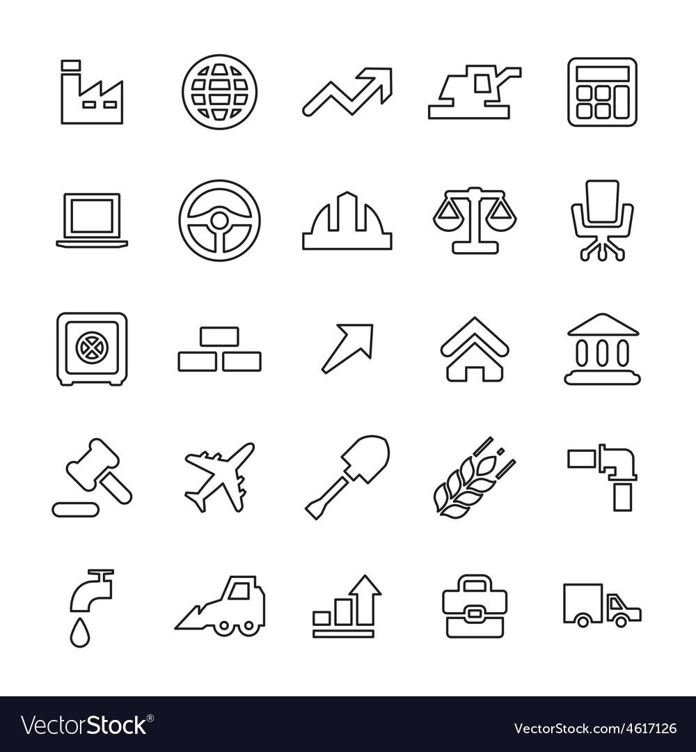 25 outline universal economy icons vector | Price: 1 Credit (USD $1)