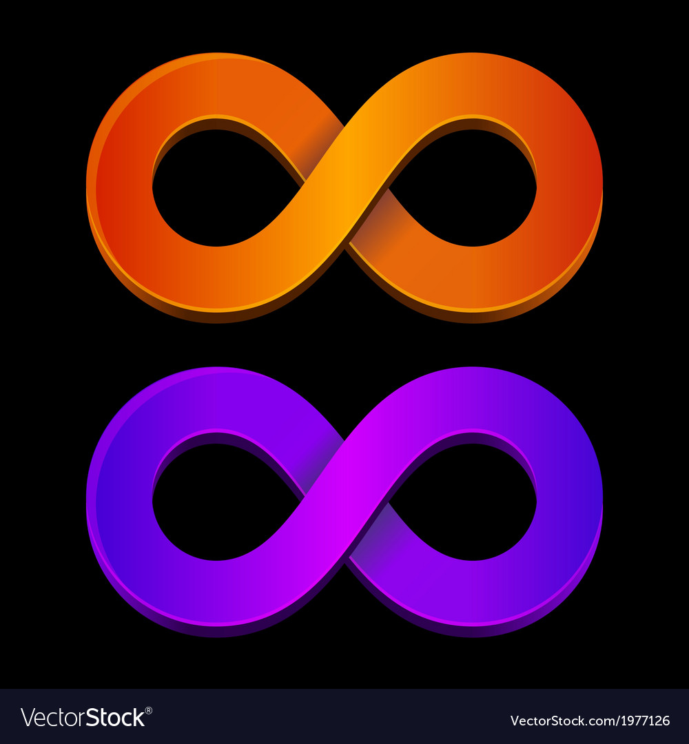 Abstract infinity orange and blue sign vector | Price: 1 Credit (USD $1)
