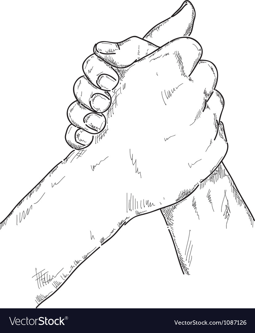 Arm wrestling vector | Price: 1 Credit (USD $1)