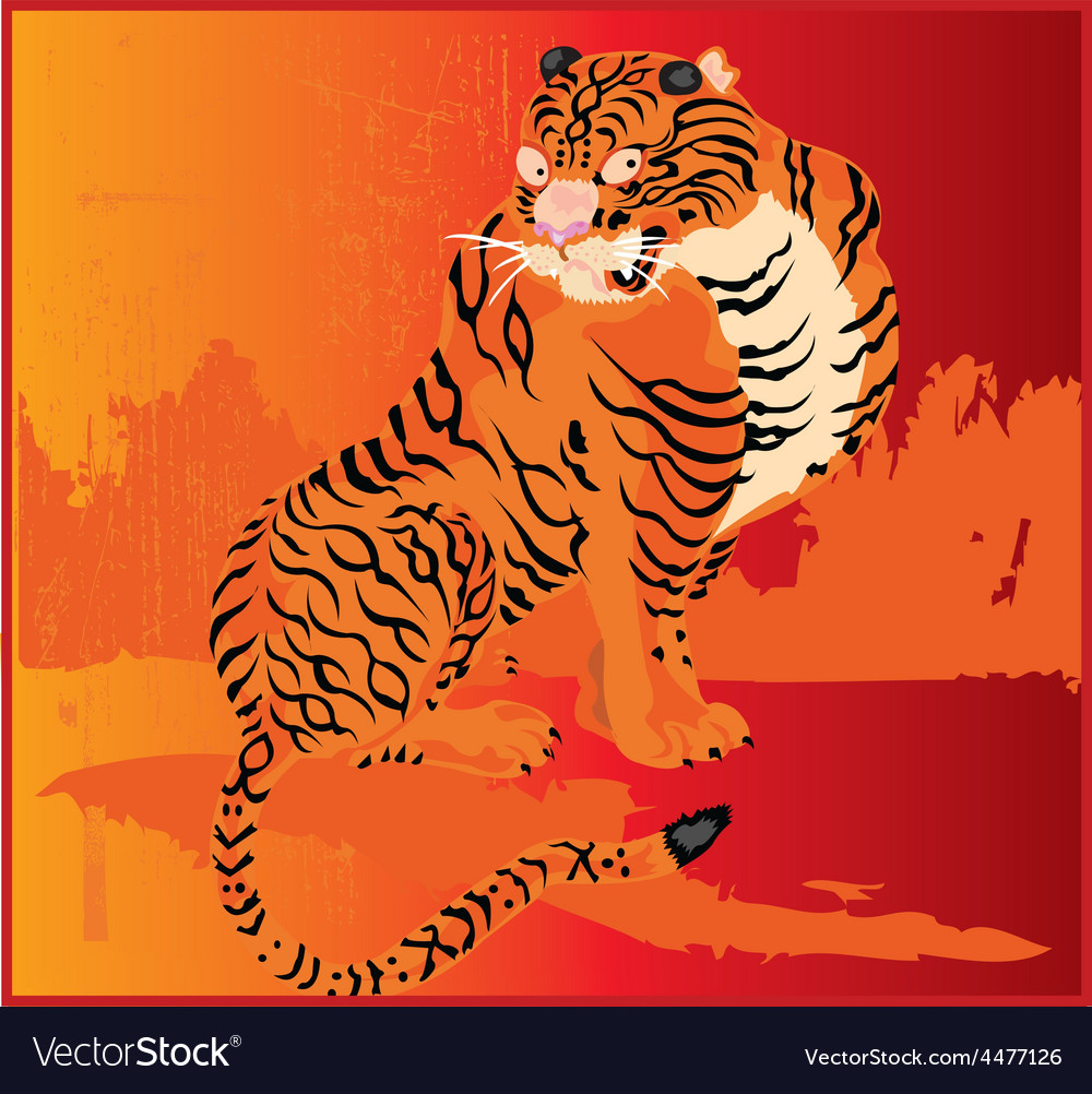 Artistic tiger design vector | Price: 1 Credit (USD $1)