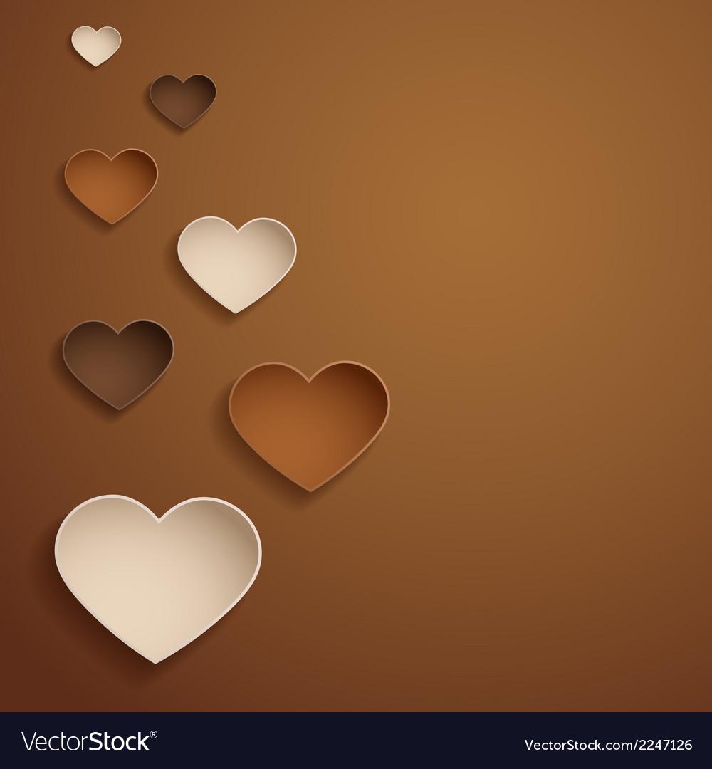 Chocolate hearts vector | Price: 1 Credit (USD $1)