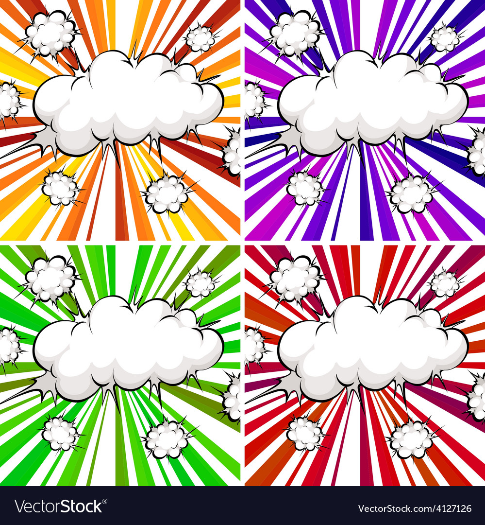Clouds explosions vector | Price: 1 Credit (USD $1)