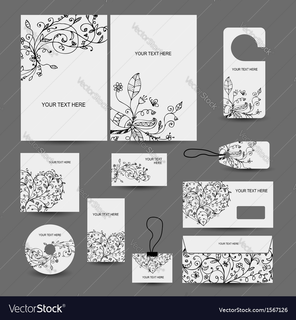 Corporate business style design folder labels vector | Price: 1 Credit (USD $1)