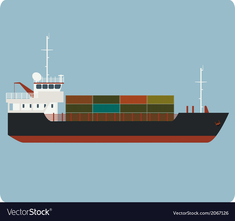 Dry cargo ship vector | Price: 1 Credit (USD $1)
