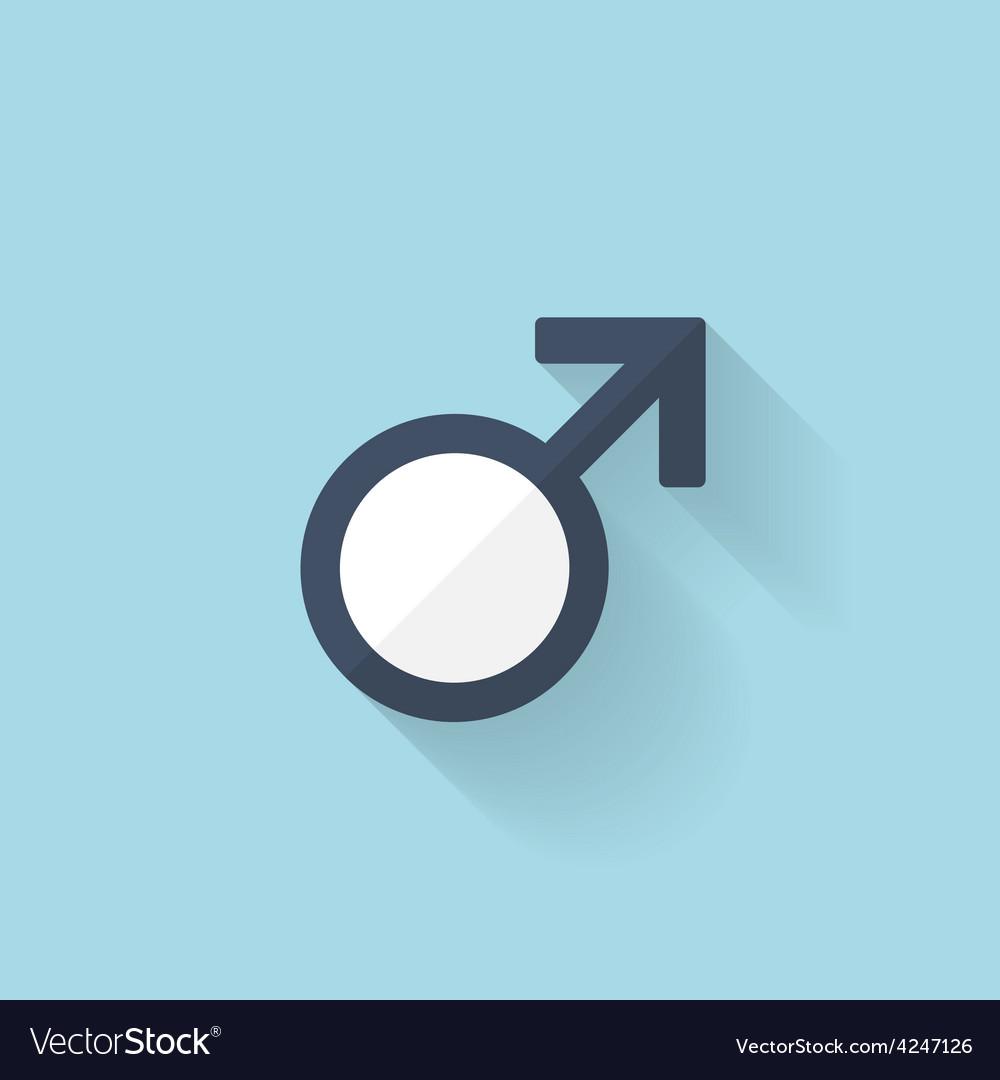 Flat web internet icon male symbol vector | Price: 1 Credit (USD $1)