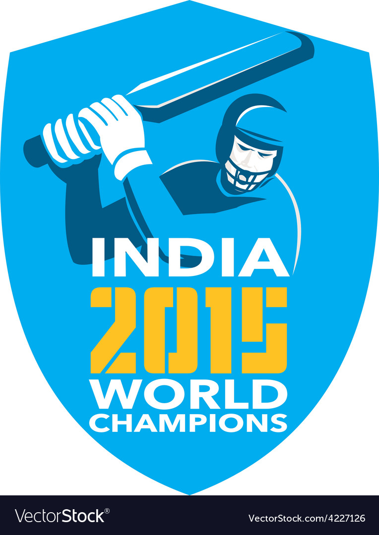 India cricket 2015 world champions shield vector | Price: 1 Credit (USD $1)