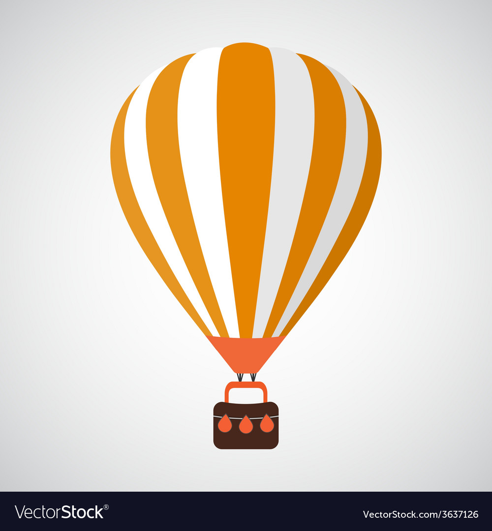 Isolated cartoon retro air balloon background vector | Price: 1 Credit (USD $1)