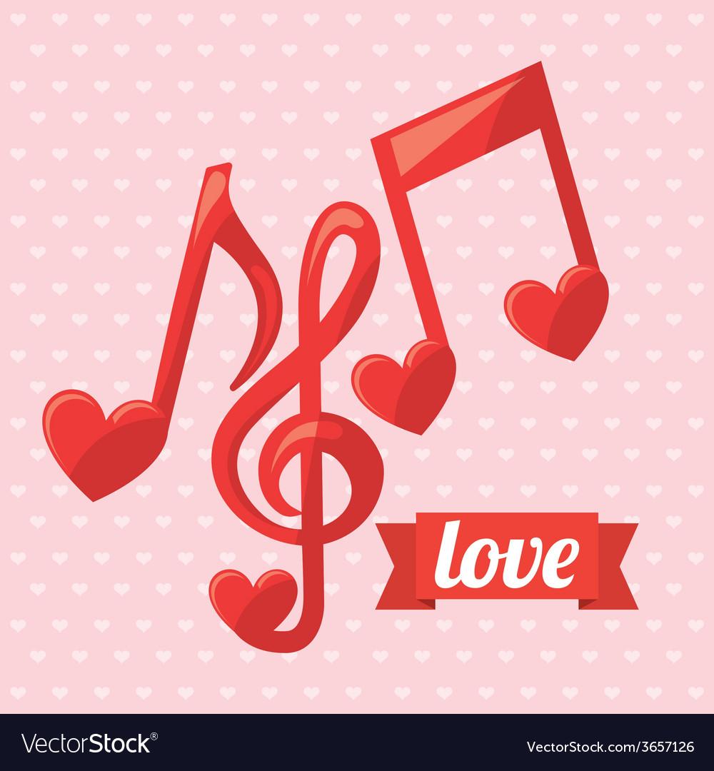 Love music vector | Price: 1 Credit (USD $1)
