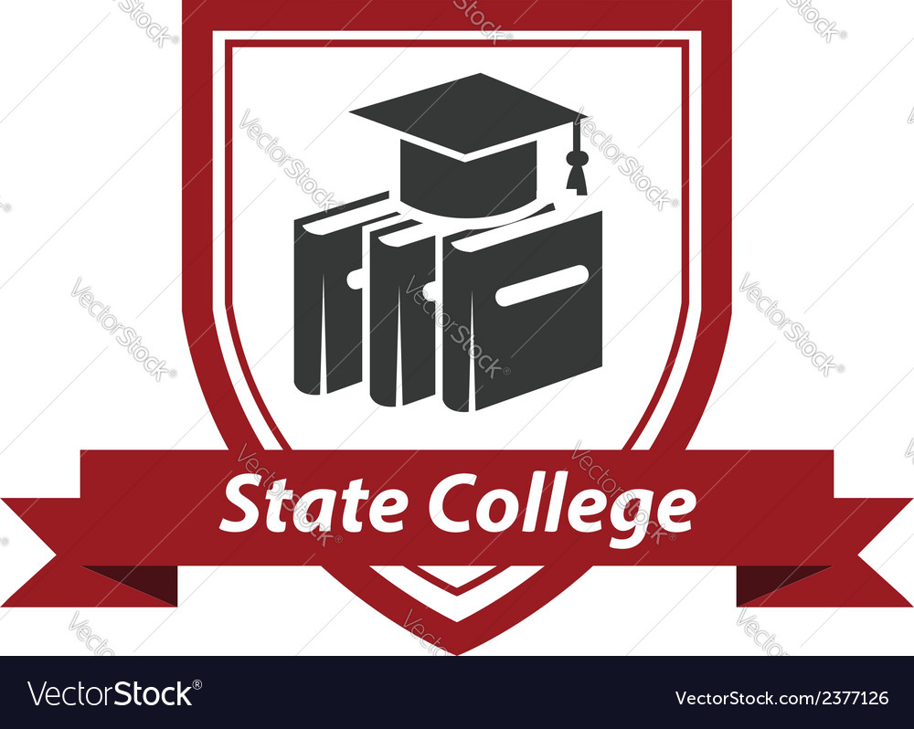 State college emblem vector | Price: 1 Credit (USD $1)