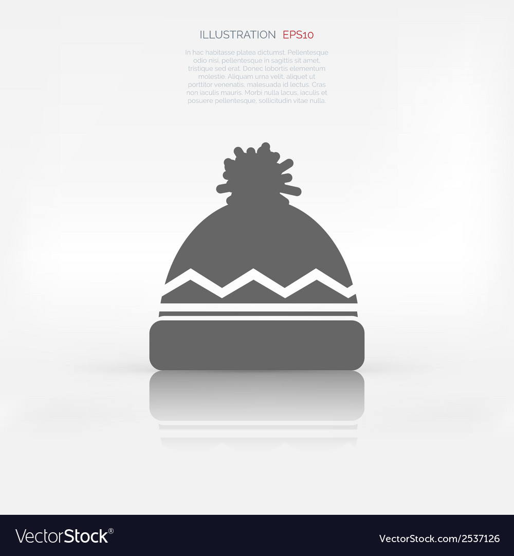 Winter snowboard cap icon vector | Price: 1 Credit (USD $1)