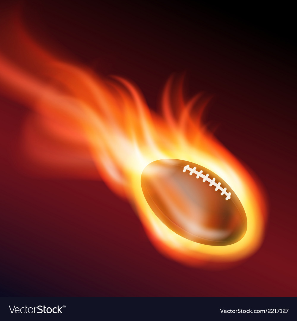 Burning football vector | Price: 1 Credit (USD $1)
