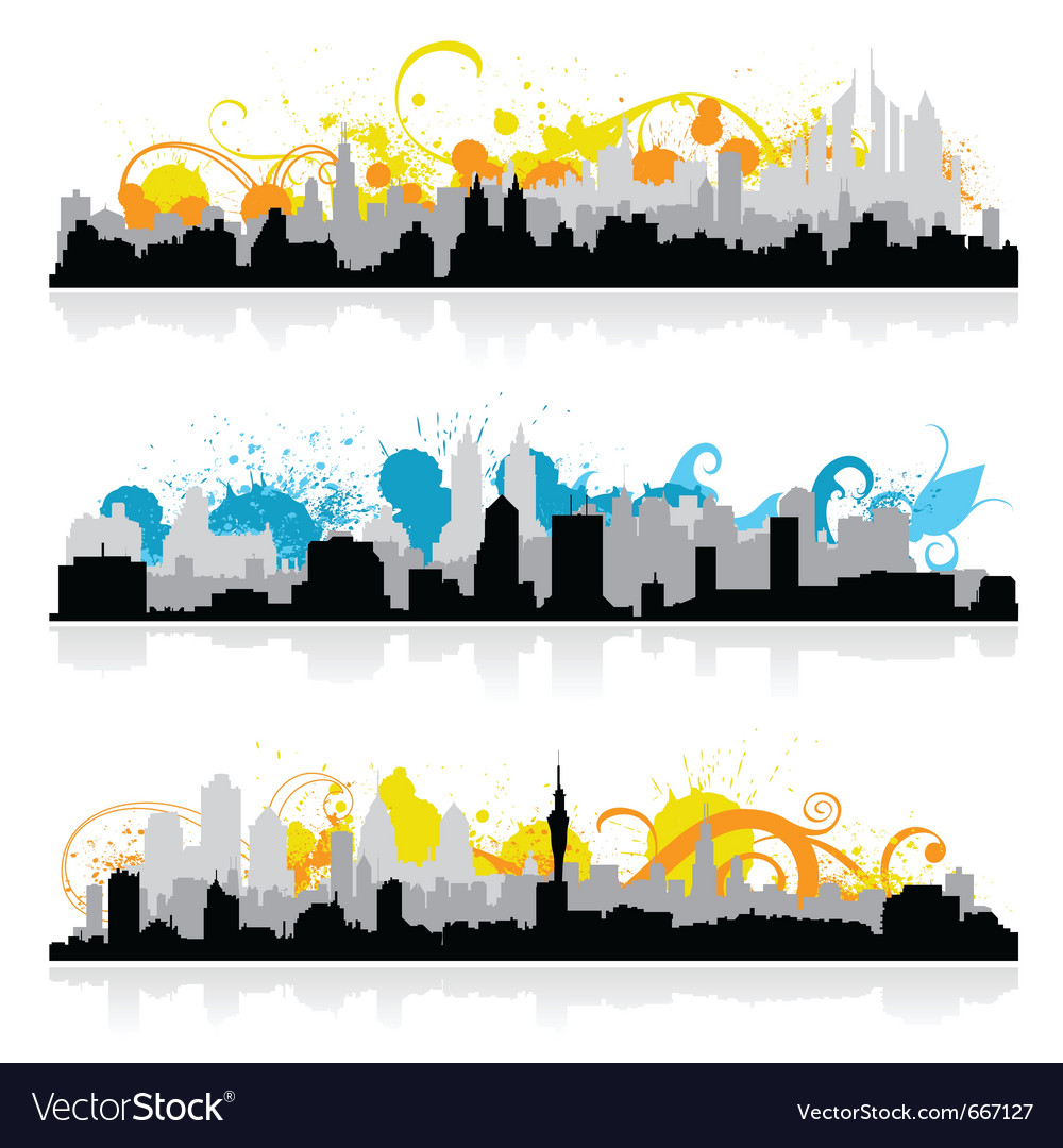 Cityscape skyline panorama vector | Price: 1 Credit (USD $1)