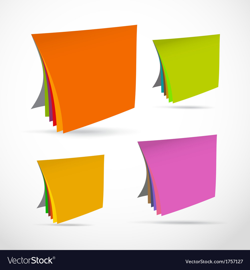 Colorful paper sheets vector | Price: 1 Credit (USD $1)